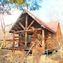 【那須高原別荘】新緑の中に建つログハウス。リフォームしてからのお引渡し【温泉引き込み可能】
